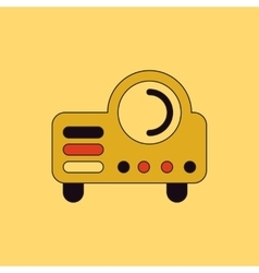 In flat style retro home vector