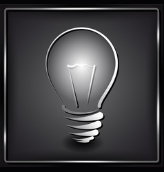 Lamp silhouette on black background vector