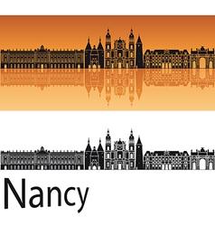 Nancy skyline in orange background vector