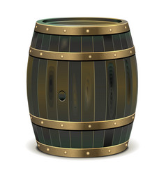 Old barrel vector