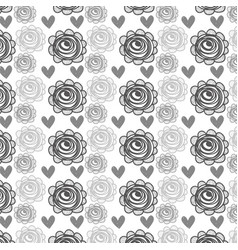 Roses with hearts background decoration design vector