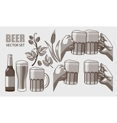 Set of beer vector image