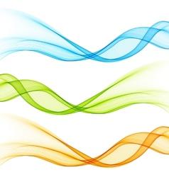 Set of color curve lines design element vector image vector image