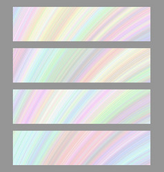 Set of digital art banner backgrounds vector