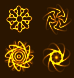 Sun elements with adaptation to background part 2 vector image vector image