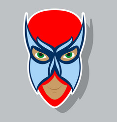 superhero in action superhero character icon in vector image vector image