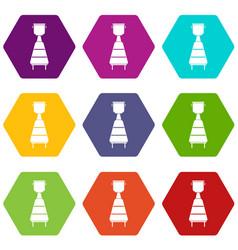 Wine distillery equipment icon set color vector