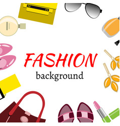 women accessories frame vector image vector image