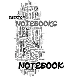 your guide to a notebook text word cloud concept vector image vector image
