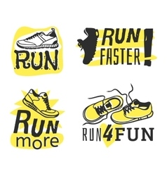 Run sport motivation vector