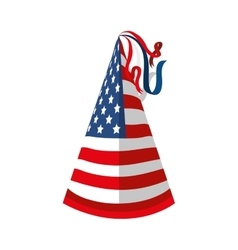 Hat flag usa america vector