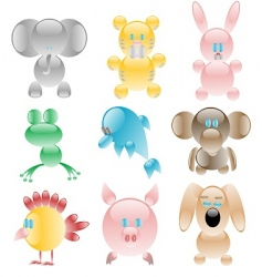 glass toys vector image