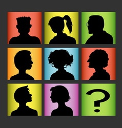 Avatars people character silhouette vector