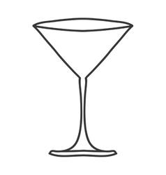 Silhouette monochrome with martini glass vector