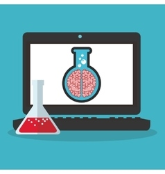 Colorful laptop and science design vector