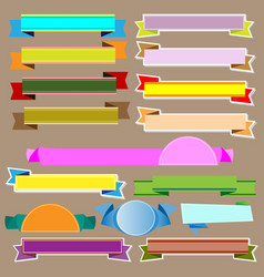 colorful ribbons and banners vector image