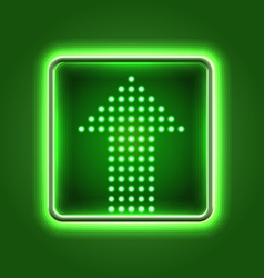 Green arrow neon icon vector image