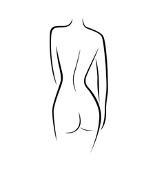 Abstract female back contour vector
