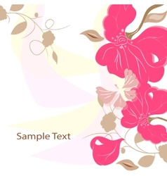 Floral background card frame vector image