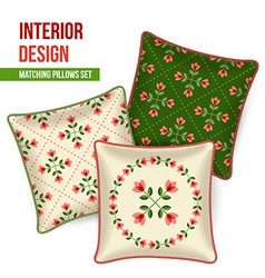 Set of decorative pillow vector