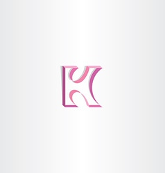 Letter k purple ribbon logo element vector