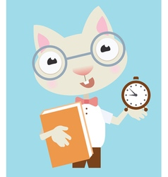 Scientist cat vector image