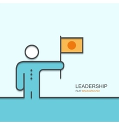 Modern outline flat design of leadership vector