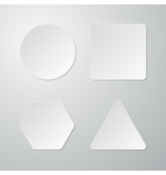 Set of paper figures vector