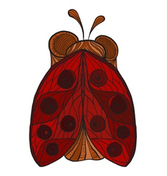 Ladybug with red wings and dots vector