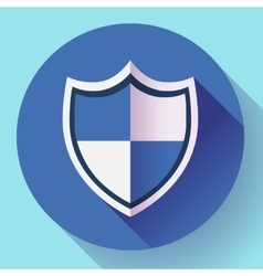 Shield icon - protection symbol flat design style vector