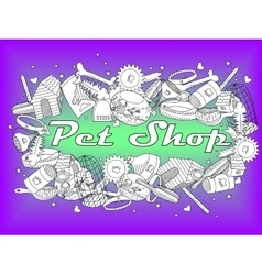 Pit shop coloring book vector