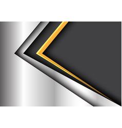 abstract yellow black arrow metal modern vector image vector image