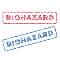 Biohazard textile stamps vector
