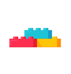 blocks constructor toys flat vector image vector image