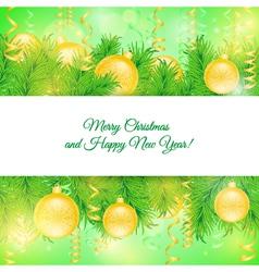 Christmas card Christmas yellow toys vector image