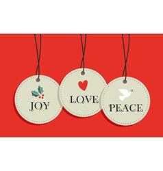 Christmas hang tags sale elements set vector image