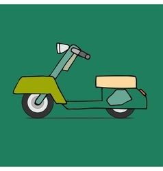 Classic moped vector image vector image