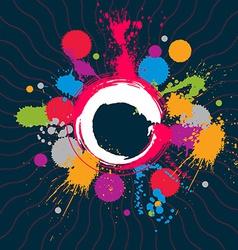 Colored modern acrylic wallpaper eps8 blob vector