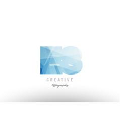 es e s blue polygonal alphabet letter logo icon vector image vector image