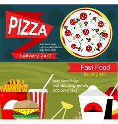 Fast food banner design concept vector image