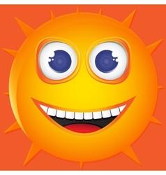 Funny sun smile vector