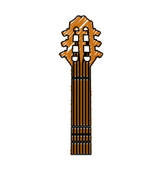 guitar acoustic musical instrument vector image vector image