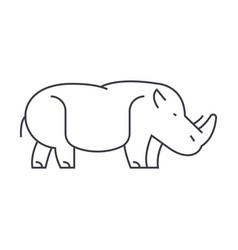 hippopotamushippo line icon sign vector image