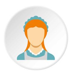 hotel maid icon circle vector image