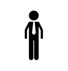 isolated businessman design vector image vector image