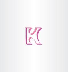 Letter k purple ribbon logo element vector