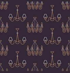light fixture lamps seamless pattern line vector image