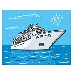 Luxury cruise liner vector