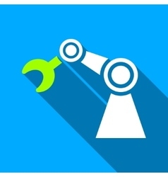 Manipulator flat long shadow square icon vector