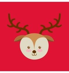 reindeer happy merry christmas vector image